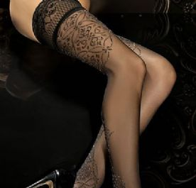 Black lurex hold-up stockings , Ballerina 287